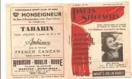 Programme Paris Spectacles N°130 4 ème Année Du 23 Avril Au 6 Mai 1947 - Programmes