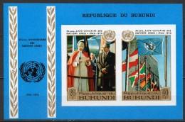 Burundi - Bloc Feuillet - 1970 - Yvert N° BF 40 **  - 25° Anniversaire Des Nations-Unies - 1970-79: Neufs