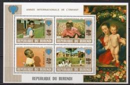 Burundi - Bloc Feuillet - 1979 - Yvert N° BF 106A **  - Année Internationale De L'Enfant - 1970-79: Neufs