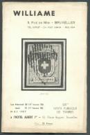 Catalogue De Vente Publique WILLIAME N°108 - Vente De Mai 1957, Bruxelles, 39 P. + 12 Pl. - MX011 - Catalogues De Maisons De Vente