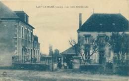 -ref-N203- Creuse - Jarnages - Saint Chabrais - St Chabrais - Ecoles Communales - Ecole - Carte Bon Etat - - Other Municipalities
