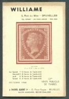 Catalogue De Vente Publique WILLIAME N°121 - Vente De Ocobre 1960, Bruxelles, 72 P. + 15 Pl. - MX013 - Catalogues De Maisons De Vente