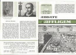FOLDER TP N° 1334 + 1335 ABBAYE D'AFFLIGEM - ST JEAN BERCHMANS CP FDC DE HEKELGEM,DIEST(FORMAT NON NORMALISE)(2 SCANS) - Documents De La Poste