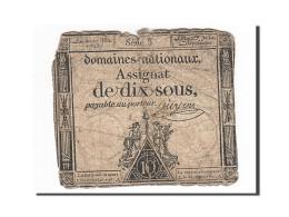 France, 10 Sous, 1793, 1793-05-23, Guyon, KM:A68a, TTB, Lafaurie:165a - Assignats & Mandats Territoriaux