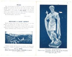 Dépliant Saint Expedit, Adresse  Abbaye Saint Michel De Frigolet, Tarascon - Religion & Esotérisme
