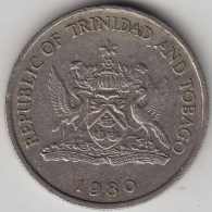 @Y@   Trinidad En Tabago   25 Cents  1982    KM 31     (3551) - Trinidad En Tobago