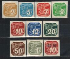 BÖHMEN&MÄHREN 1939 - MiNr: 42 - 50 +51  Komplett  * / MH - Böhmen Und Mähren