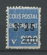 COLIS POSTAUX 1938 N° 154 Neuf ** MNH  TB Cote 2,50 € - Colis Postaux