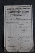 Facture Ancienne RARE ,MONTPELLIER,BEDARIEUX, ST PONS - Entreprise Générale De Transports De FABREGUETTES Frères. - 1800 – 1899