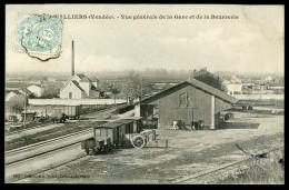 Cpa  Du 85  Nalliers -- Vue Générale De La Gare Et De La Beurrerie   NCL9bis - Sonstige Gemeinden
