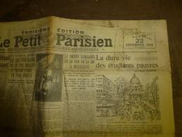1930 LE PETIT PARISIEN :Terrible Collision Du KATTEGAT Entre 2 Navires Finlandais OBERON Et  ARCTURUS, Coulé En 3 Mn - Journaux - Quotidiens