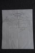 Facture Ancienne , MONTPELLIER - GIRAUD , Tailleur, Place De La Préfecture. - 1800 – 1899