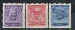 BÖHMEN&MÄHREN 1943 - MiNr: 114 - 116   Komplett  **/MNH - Böhmen Und Mähren