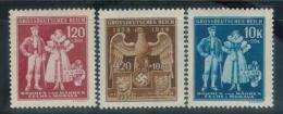 BÖHMEN&MÄHREN 1944 - MiNr: 133 - 135   Komplett  **/MNH - Böhmen Und Mähren
