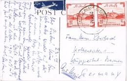 19953. Postal Aerea KARACHI (Pakistan)  1953. Fechador BEACH LUXURY Hotel - Pakistán