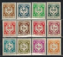 BÖHMEN&MÄHREN Dienst 1941 - MiNr: 1 - 12 Komplett   */MH - Böhmen Und Mähren