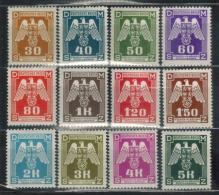 BÖHMEN&MÄHREN Dienst 1941 - MiNr: 13 - 24 Komplett   */MH - Böhmen Und Mähren