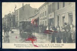 Cpa Du Luxembourg Überschwemmung In Düdelingen Dudelange 27 Februar 1910 Transport Der Passanten Per Tram Durchs JIP54