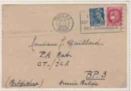 Envlp De       1940  Vers La Belgique - Marcophilie (Lettres)