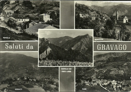 Gravago Fraz. Di Bardi (Parma, Emilia Romagna) Vedute Noveglia, Bergazzi, Pieve, Castello Conti Landi E Monastero - Parma