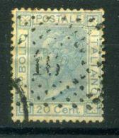 ITALIE ( POSTE ) : Y&T N°  23  TIMBRE  BIEN  OBLITERE , A  VOIR .