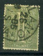 ITALIE ( POSTE ) : Y&T N°  12  TIMBRE  BIEN  OBLITERE , A  VOIR .