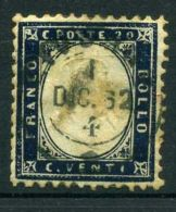 ITALIE ( POSTE ) : Y&T N°  3  TIMBRE  BIEN  OBLITERE , A  VOIR .
