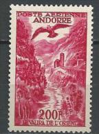 "Andorre Aerien YT 3 "" Paysage 200f. Rose "" 1955-57 Neuf* - Poste Aérienne"
