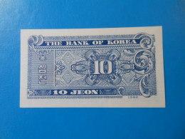 Corée Du Sud South Korea 10 Jeon 1962 P28a UNC - Corée Du Sud