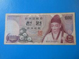 Corée Du Sud South Korea 1000 Won 1975 P44 TB F - Corée Du Sud