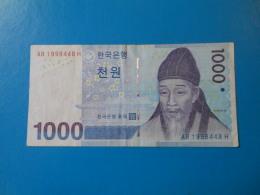 Corée Du Sud South Korea 1000 Won 2007 P54 TB F - Corée Du Sud