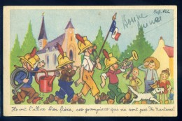 Cpa Illustrateur Robert Velter -- Ces Pompiers Qui Ne Sont Pas De Nanterre  JIP54 - Sapeurs-Pompiers