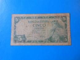 Espagne Spain Espana 5 Pesetas 1954 P146a - [ 3] 1936-1975 : Régence De Franco