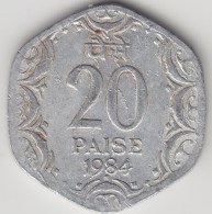 @Y@   India  20  Paise  1984  KM 44     (3577) - India