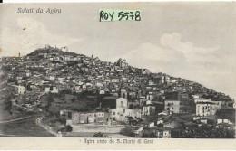 Sicilia-enna-agira Saluti Da Agira Veduta Agira Da S.maria Di Gesu' Anni/20 - Italia