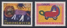 Jugoslavija Yugoslavia 1975 Mi 1615 /6 YT 1504 /5 ** Children´s Paintings / Kinderzeichnungen - Baby In Pram, Lion - Andere