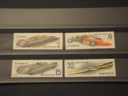 RUSSIA - 1980 AUTO SPORTIVE 4 VALORI - NUOVI(++) - Nuovi