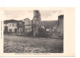 CPA.55.Marbotte.1915.Maisons Bombardées Par Les Allemands.animé Un Soldat à Cheval. - Frankrijk
