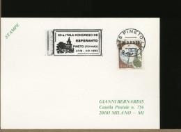 ITALIA - PINETO  - CONGRESSO ESPERANTO 1993 - Esperanto