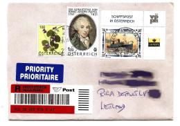 Austria To Latvia Lettland  Recomended Letter 2007 Schiff + Border/ Margin /  Gebutstag PLEYEL    (o) REAL POST 2016 - 1945-.... 2a Repubblica
