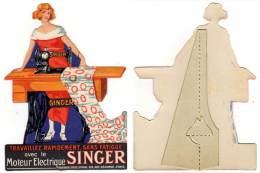 Petit Carton PLV En Découpe Machine à Coudre Singer - Plaques En Carton