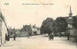-ref-N165 - Allier - Meaulne -  Place De L Eglise - Petit Plan Magasin - Magasins - Carte Bon Etat - - France