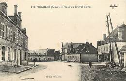 -ref-N164 - Allier - Meaulne - Place Du Cheval Blanc - Petit Plan Hotel - Magasin Tailleur- Magasins - Hotels - - France