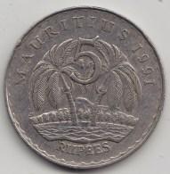 @Y@   Mauritius    5 Rupee   1991  KM 56     (3580) - Mauritius