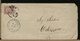 ITALIA - REGNO - 0,05 LACCA - Lettera Da FERMO A ORTEZZANO  1875 - 1861-78 Vittorio Emanuele II