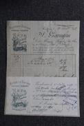 Facture Ancienne, BORDEAUX , RHUMS Et TAFIAS Du Marin, GARINEAU - 1800 – 1899