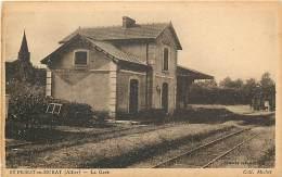 -ref-N157 - Allier - Saint Priest En Murat - St Priest En Murat - La Gare - Gares - Lignes De Chemins De Fer - - France