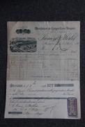 Facture Ancienne, MUSSIDAN - Manufacture De Cierges Et Bougies.LUNIERE Et MERLET. - 1800 – 1899