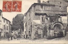 SAINT BEAUZELY     PLACE DE LA FONTAINE   CARTE RARE - France