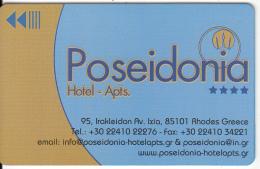 GREECE - Poseidonia, Hotel Keycard, Sample(no Chip) - Cartes D'hotel